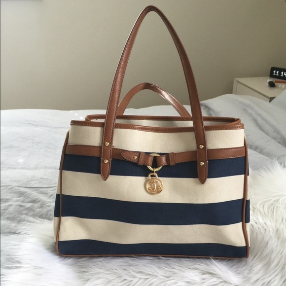 4c15174a07 90s Tommy Hilfiger Striped Nautical Purse Tote Bag.  M_5a78a21db7f72b344b321c3a